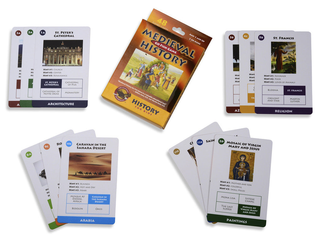 Medieval History Go Fish Card Game