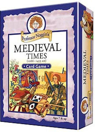 Medieval Times Card Game Professor Noggin's - EducationalLearningGames.com