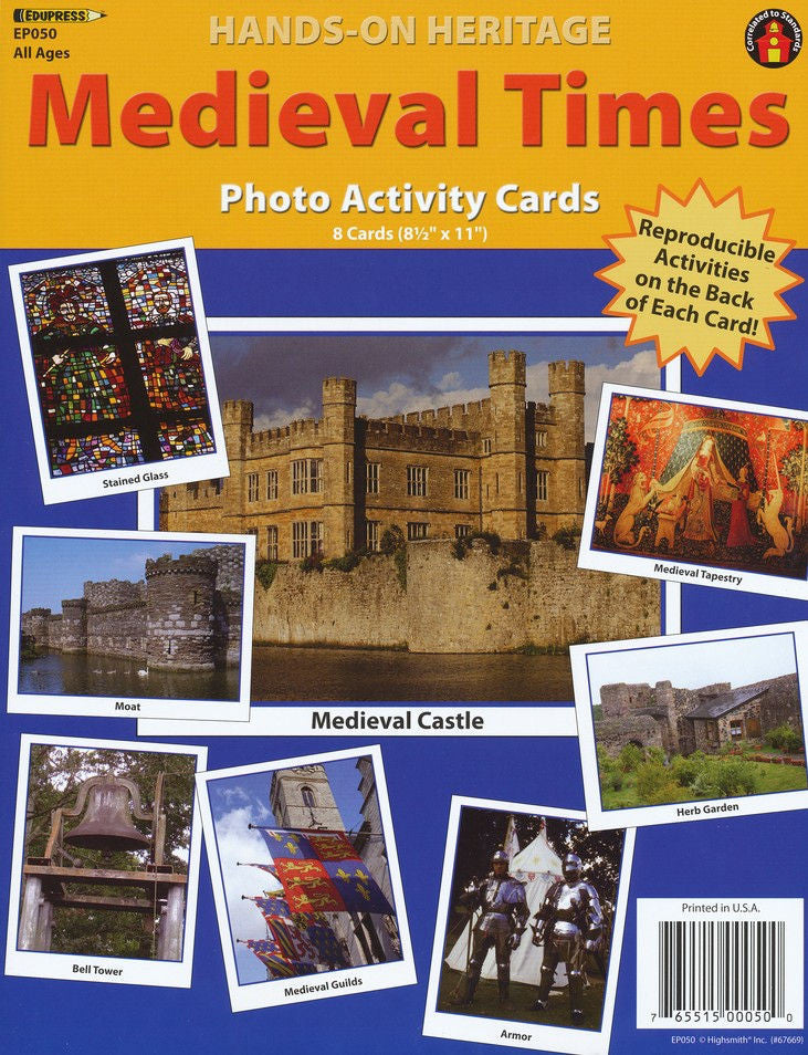 Hands-On Heritage™ Photo Activity Cards, Medieval Times, Set of 8