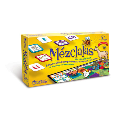 Spanish ¡MEZCLALAS! Mix it Up SPANISH Matching Game - EducationalLearningGames.com