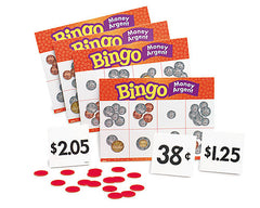 EducationalLearningGames.com Money Argent Bingo Canadian Game
