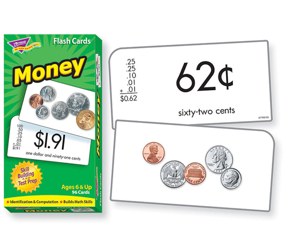 Money Skills Drill Flash Cards - EducationalLearningGames.com