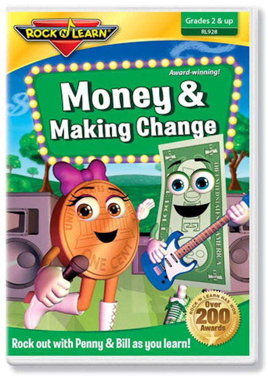 Money and Making Change DVD Video EducationalLearningGames.com