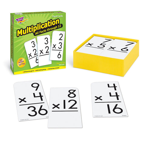 Multiplication 0-12 All Facts Skill Drill Flash Cards - EducationalLearningGames.com
