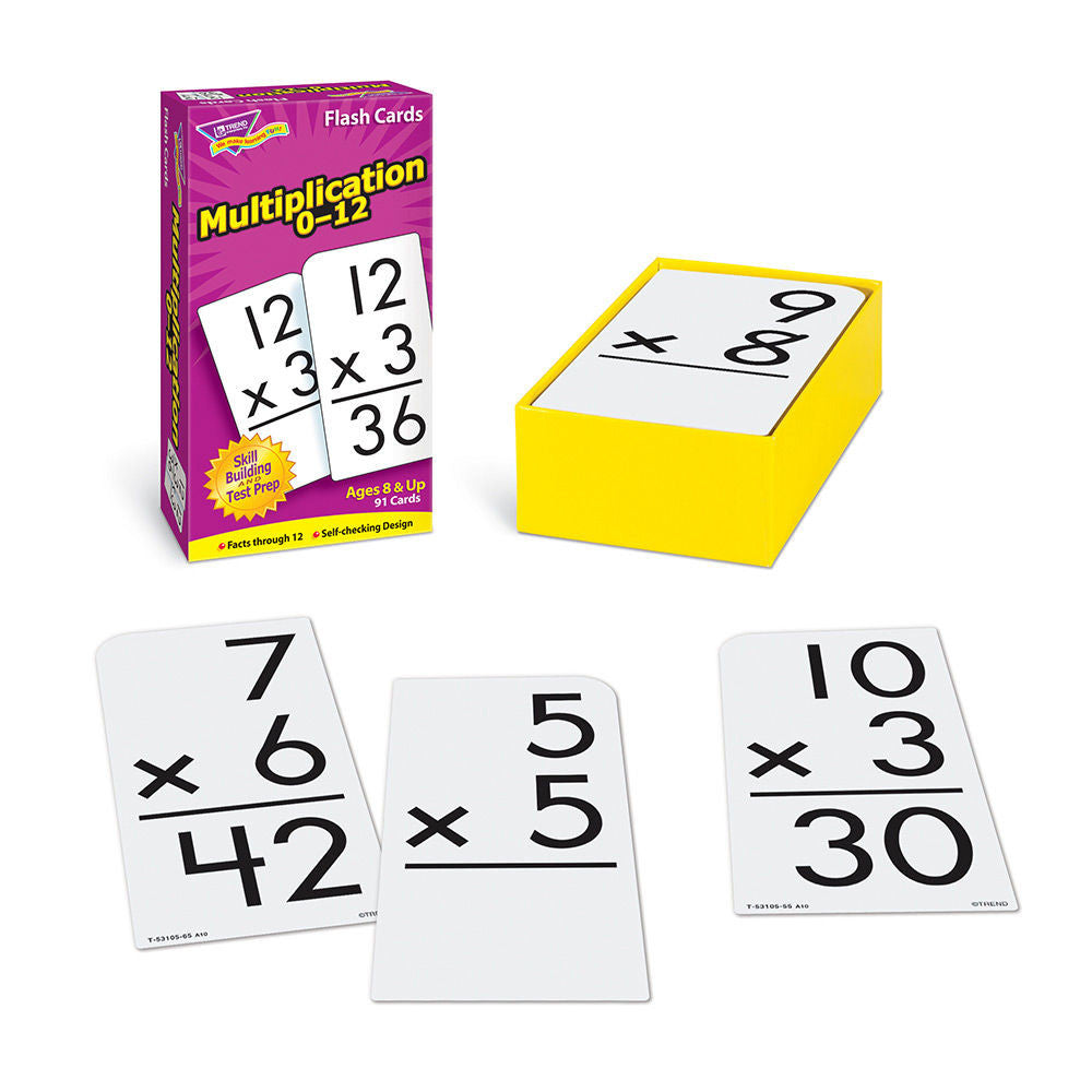 Multiplication 0-12 Flash Cards - EducationalLearningGames.com