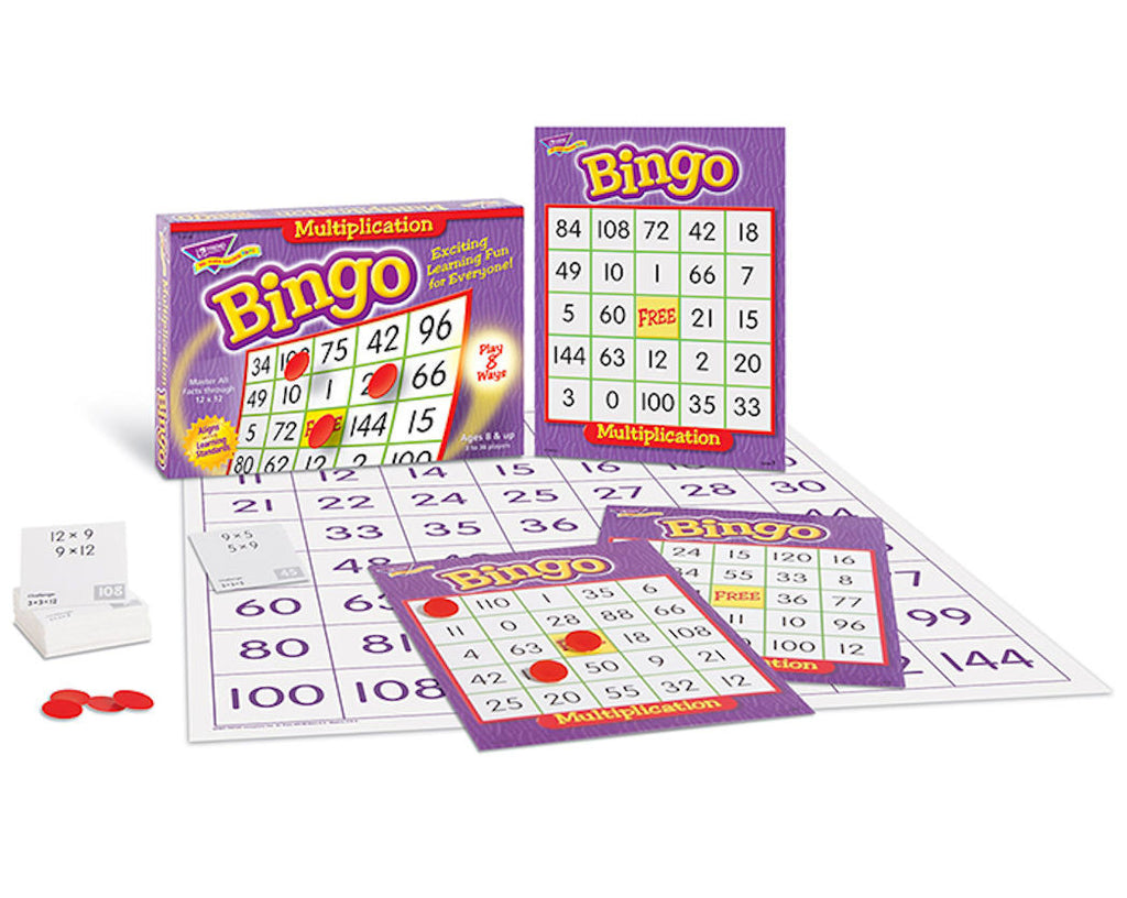 Multiplication Bingo Game - EducationalLearningGames.com