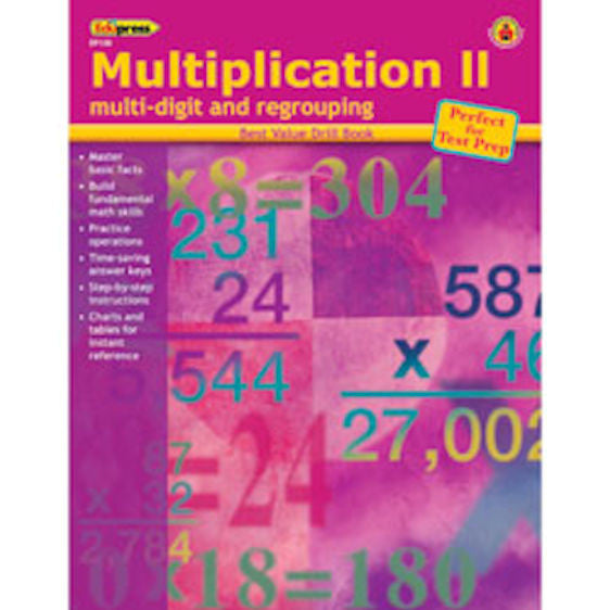Multiplication II Multidigit and Regrouping Drill Books