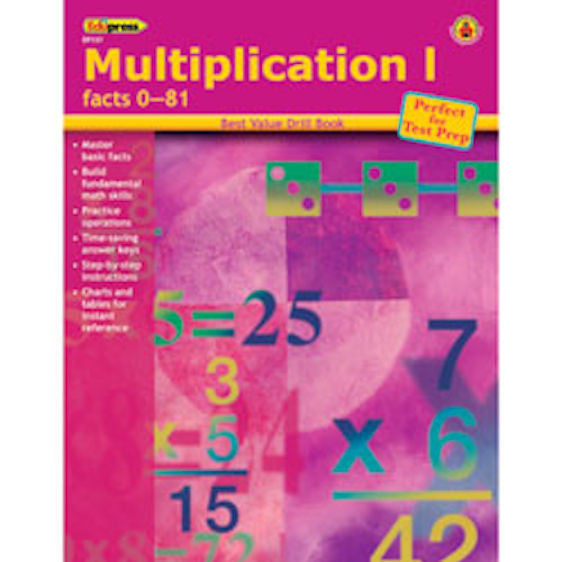 Multiplication I Drill Facts 0 -81 Books EducationalLearningGames.com