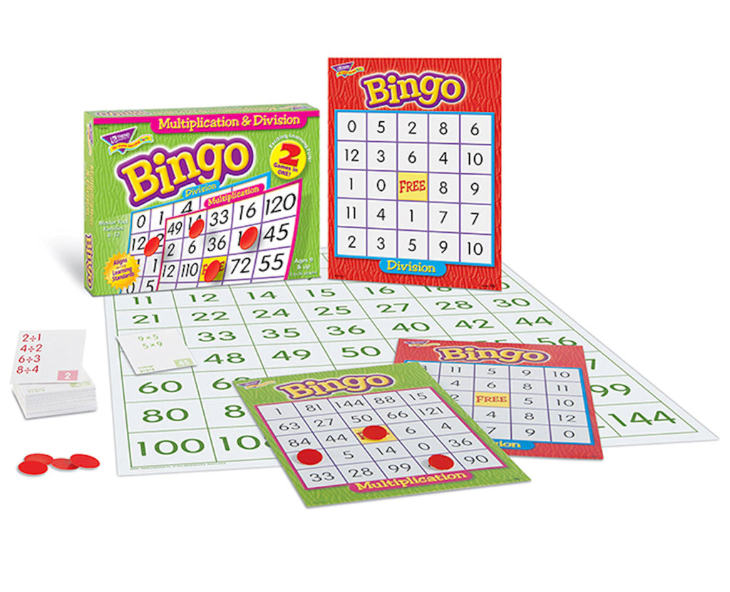 Multiplication and Division Bingo Game - EducationalLearningGames.com