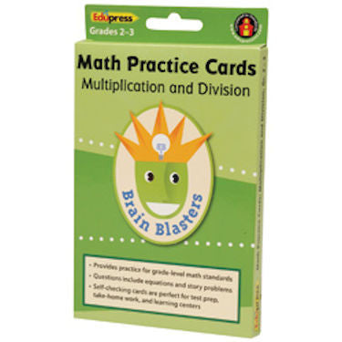 Multiplication and Division Math Practice Cards - EducationalLearningGames.com