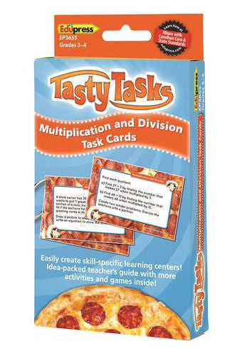 Multiplication and Division Tasty Task Cards, Grades 3–4