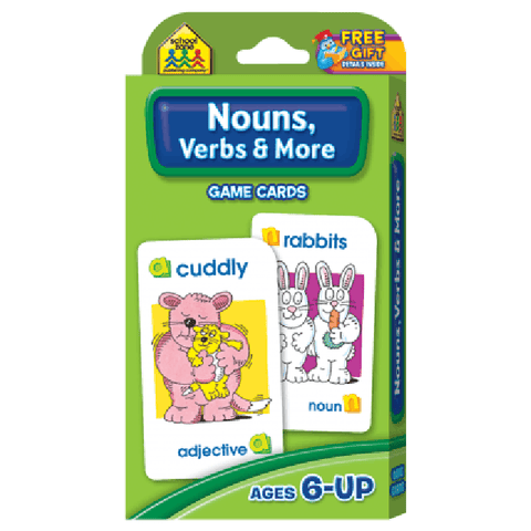 Nouns, Verbs & More Game Cards - EducationalLearningGames.com