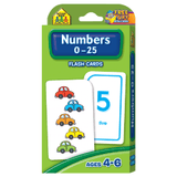 Numbers 0-25 Flash Cards - EducationalLearningGames.com