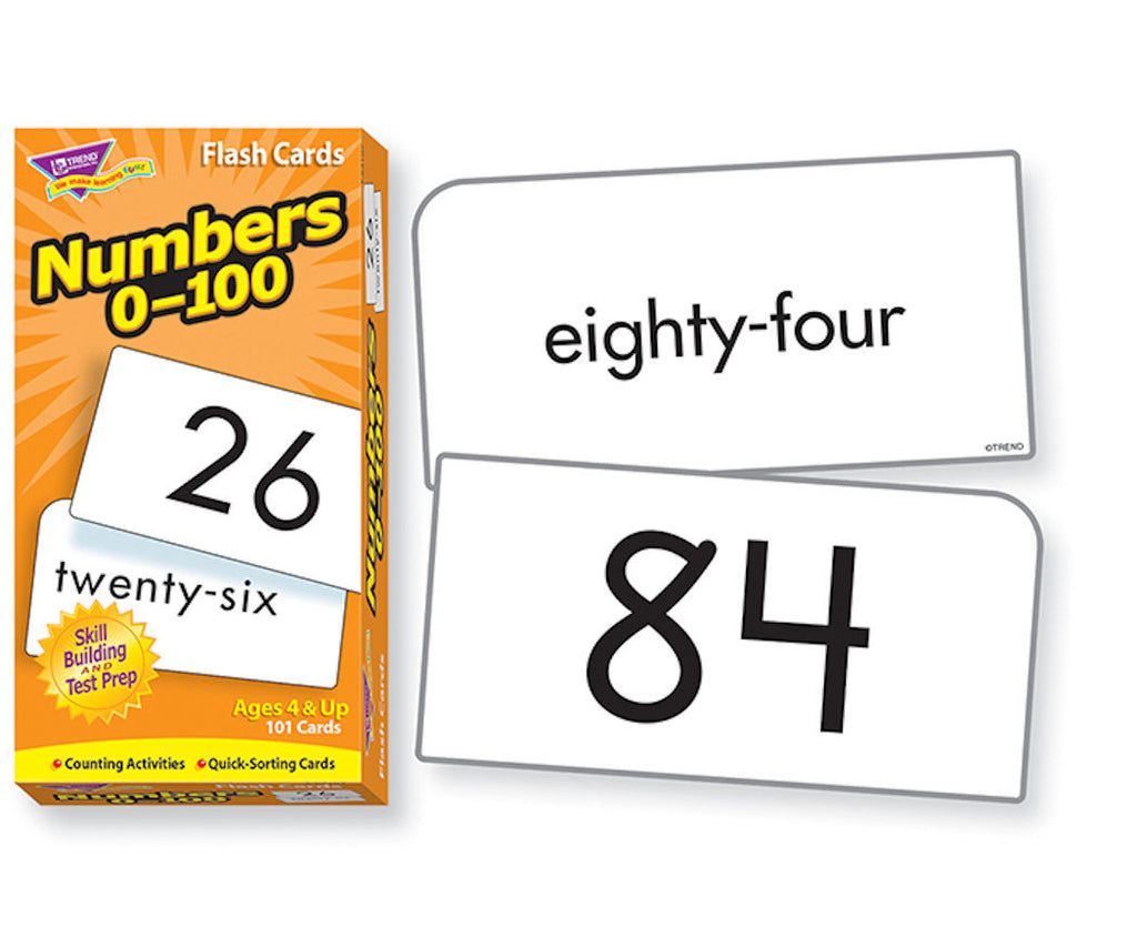 Numbers 0 thru 100 Skill Drill Flash Cards - EducationalLearningGames.com
