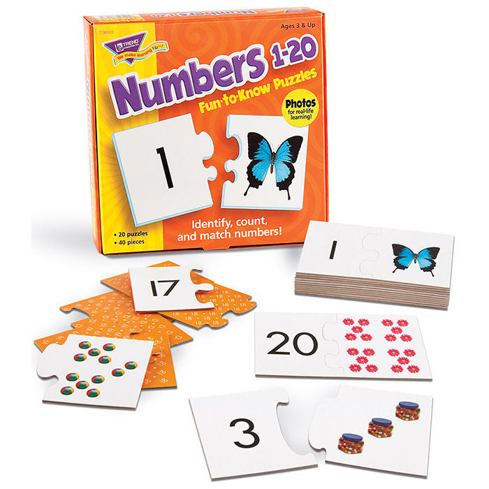 Numbers 1–20 Fun-to-Know Puzzles - EducationalLearningGames.com