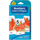 Numbers, Colors and Shapes Puzzle Cards - EducationalLearningGames.com