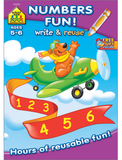 Numbers Fun! Write and Reuse Workbook - EducationalLearningGames.com