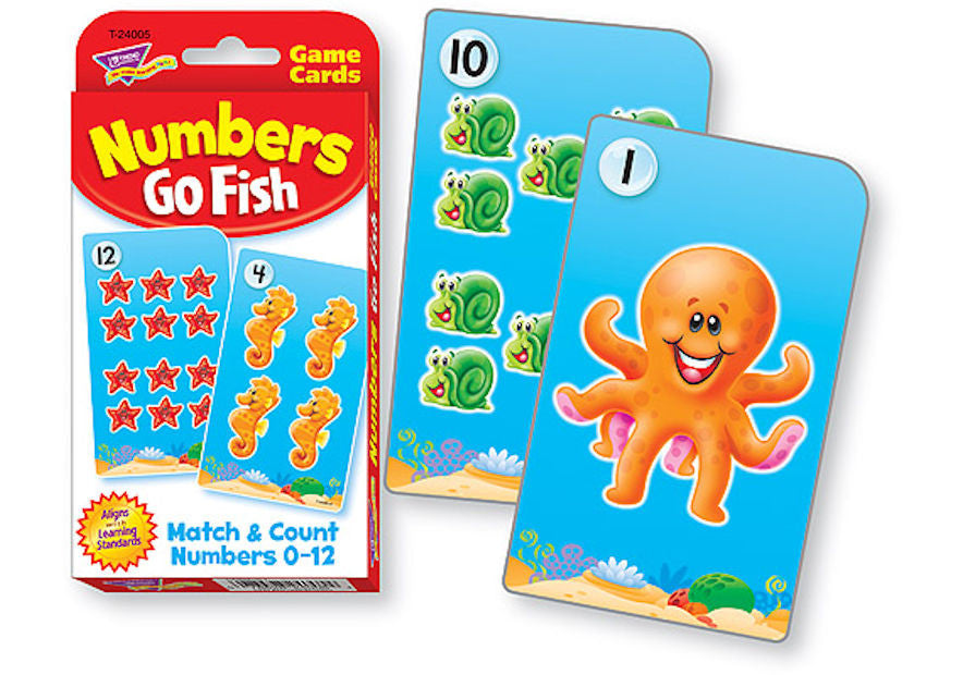 Numbers Go Fish Challenge Cards - EducationalLearningGames.com