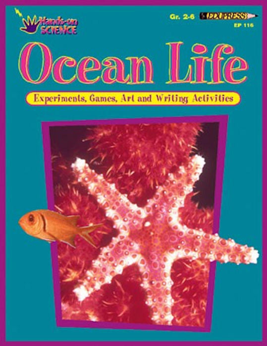 Ocean Life, Hands-on Science Workbook for Kids - EducationalLearningGames.com