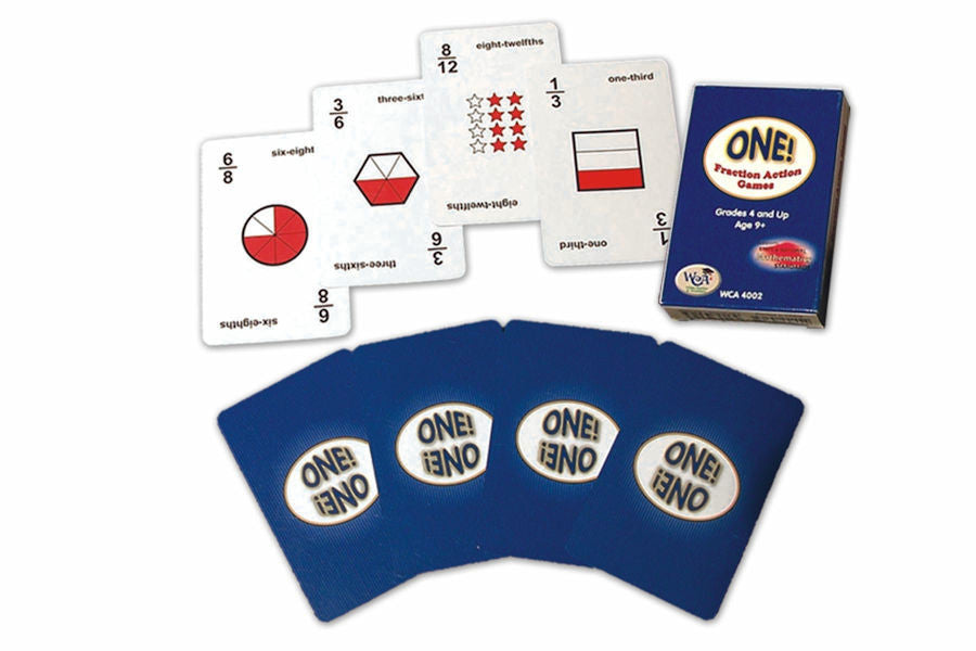 One! Fraction Action Card Game