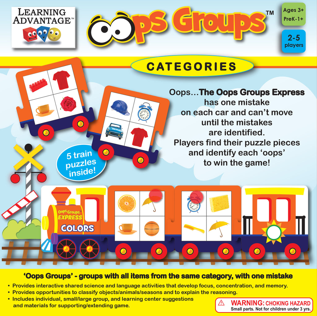 Oops Groups Categories Puzzle Game