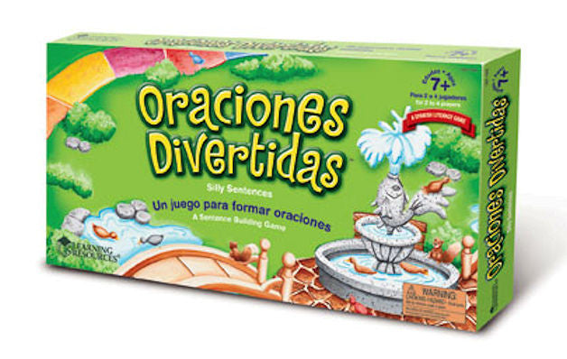 Oraciones Divertidas Silly Spanish Sentences Game - EducationalLearningGames.com