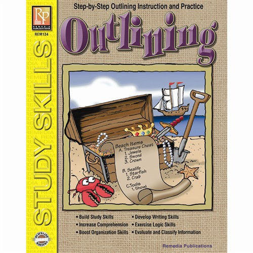 Outlining Workbook, Grades 5 - 8 EducationalLearningGames.com
