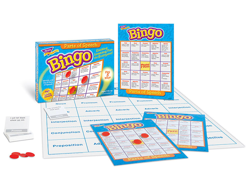 Parts of Speech Bingo Game - EducationalLearningGames.com