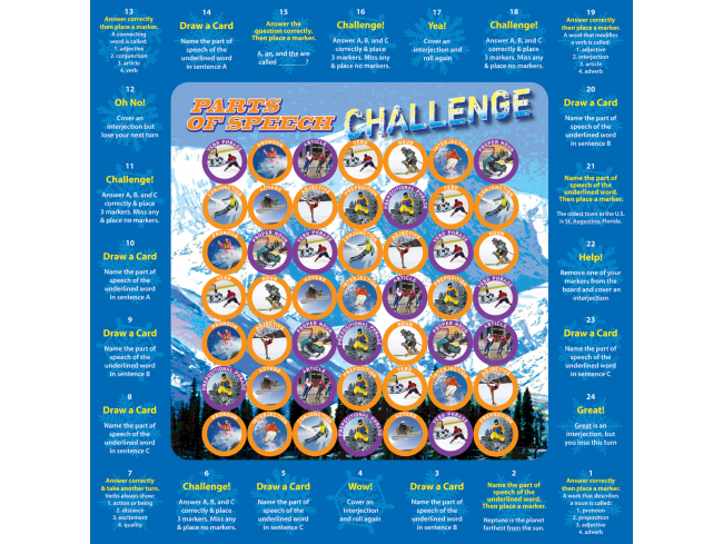 Parts of Speech Challenge Game - EducationalLearningGames.com