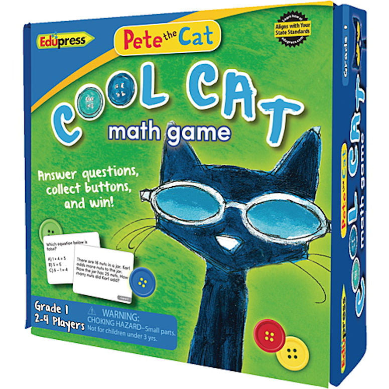 Pete the Cat Cool Cat Math Game, Grade 1  - EducationalLearningGames.com