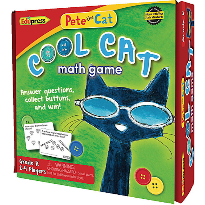 Pete the Cat Cool Cat Math Game, Kindergarten - EducationalLearningGames.com
