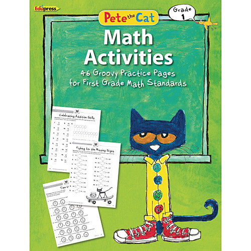 Pete the Cat Math Workbook, Grade 1 - EducationalLearningGames.com