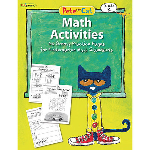 Pete the Cat Math Workbook, Kindergarten - EducationalLearningGames.com