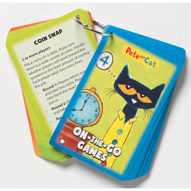Pete the Cat On-the-Go Card Games - EducationalLearningGames.com