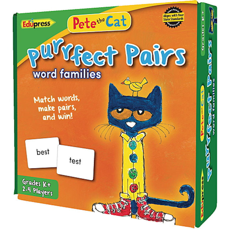 Pete the Cat Purrfect Pairs Game, Word Families  EducationalLearningGames.com