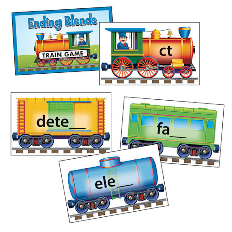 Phonics Train Game, Ending Blends - EducationalLearningGames.com
