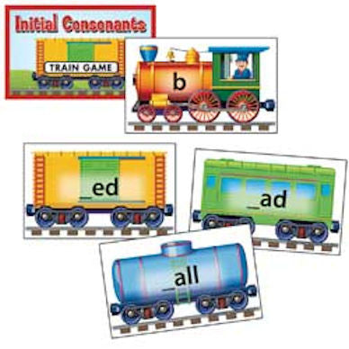 Phonics Train Game, Initial Consonants - EducationalLearningGames.com