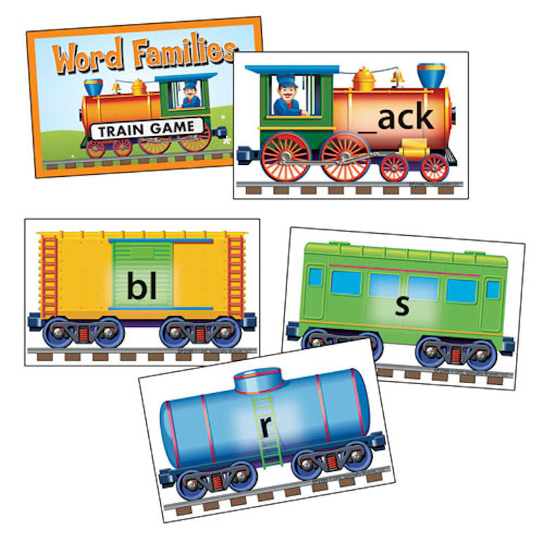Phonics Train Game, Word Families - EducationalLearningGames.com