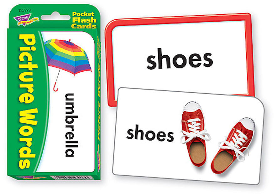 Picture Words Pocket Flash Cards - EducationalLearningGames.com
