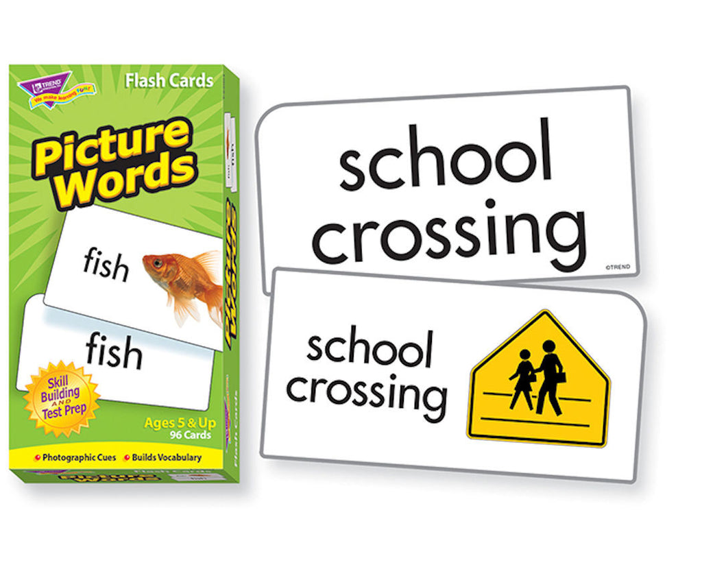 Picture Words Skill Drill Flash Cards - EducationalLearningGames.com