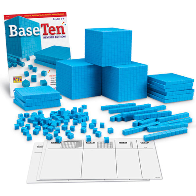 Pastic Base Ten Place Value Set - EducationalLearningGames.com