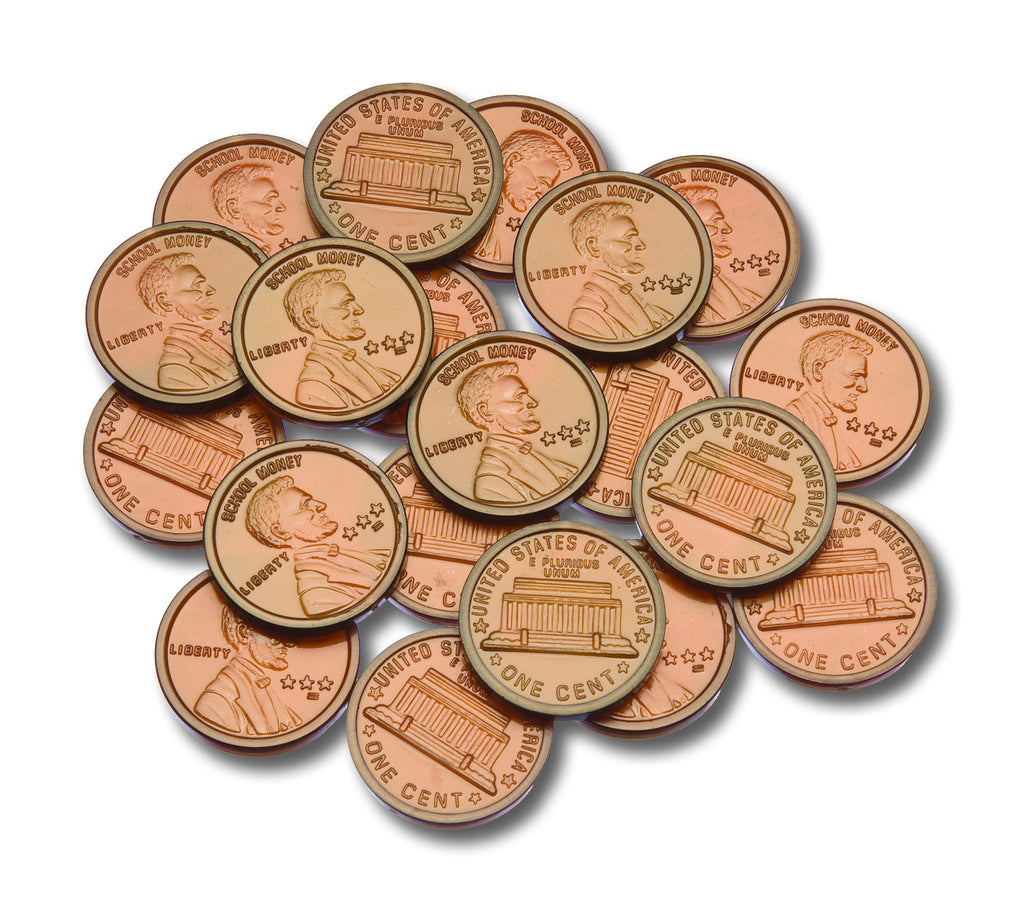 Coins Play Money Plastic Pennies, Set of 100