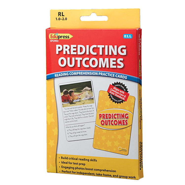Predicting Outcomes Reading Comprehension Practice Cards, Yellow