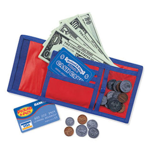 Pretend and Play Cash and Carry Wallet - EducationalLearningGames.com
