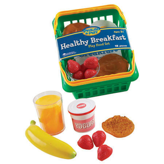 Pretend and Play Healthy Breakfast Play Food Set, 18-Piece Ages 3+