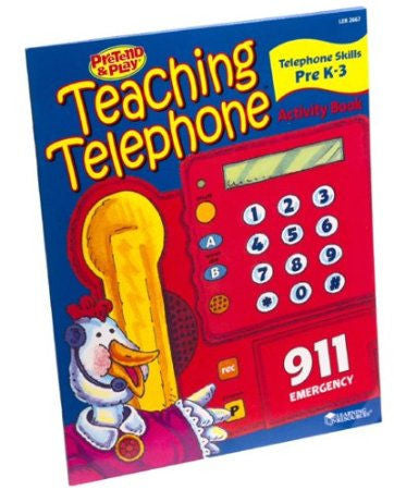 Pretend and Play Teaching Telephone Activity Book - EducationalLearningGames.com