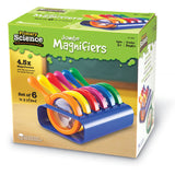 Primary Science Jumbo Magnifiers with Stand, Set of 6 - EducationalLearningGames.com