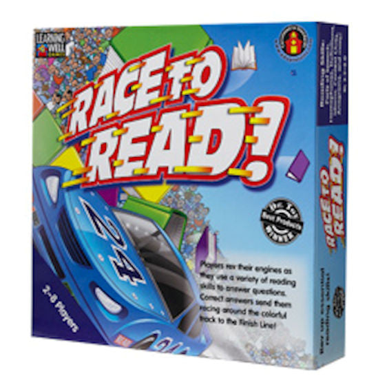 Race to Read Game, Blue Level EducationalLearningGames.com