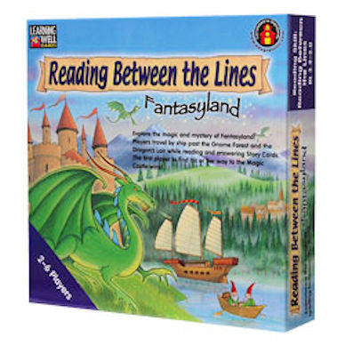 Reading Between the Lines Fantasyland Game, Blue Level - EducationalLearningGames.com