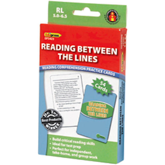 Reading Between the Lines Reading Comprehension Practice Cards, Green Level EducationalLearningGames.com